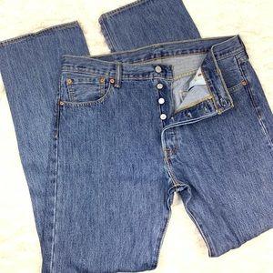 Levis 501 Button Fly Straight Leg Jeans W36 L34